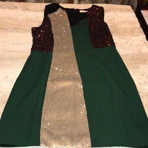Line&dot sequins mini A-Line Dress